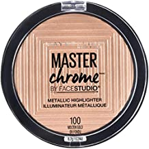 Maybelline New York Facestudio Master Chrome Metallic Highlighter Makeup, Molten Gold, 0.24 oz.