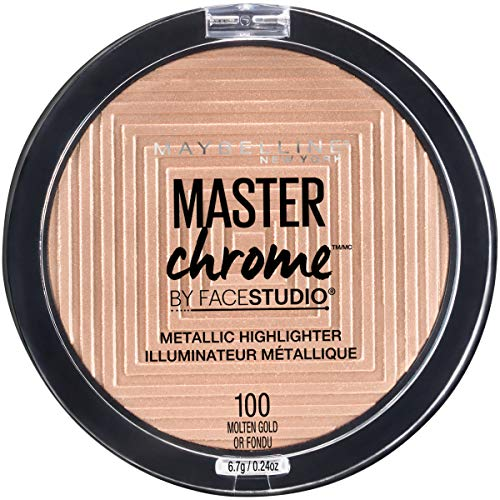 Maybelline New York Facestudio Master Chrome Metallic Highlighter Makeup, Molten Gold, 0.24 oz. -
