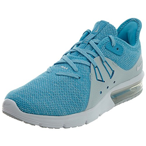 NIKE Women's Air Max Sequent 3 Running Shoe Blue Fury/White-glacier Blue
