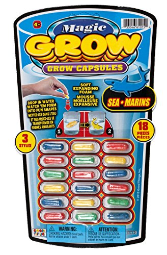 Ja-Ru Magic Grow, 18 Capsules, Sea Animals, 3-pack