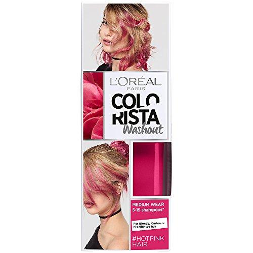 LOreal Paris Colorista Coloracion Temporal Tono Washout Hot Pink Hair, 80 ml
