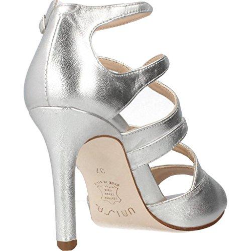 UNISA Sandalias de Vestir Para Mujer, Color Plateado, Marca, Modelo Sandalias De Vestir Para Mujer WENCE LMT Plateado Plateado