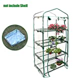 PVC Garden Flowerpot Cover Indoor Outdoor Hot Potato Green House 4 Tiers, 27'' x 20'' x 61''( Without Iron Stand )