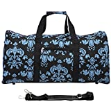 World Traveler 22 Inch Duffle Bag, Black Blue Damask, One Size Review