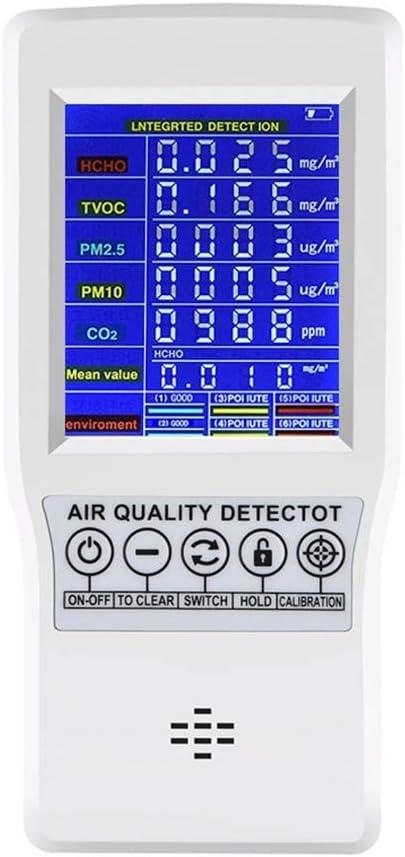 Sucastle Calidad del Aire Aire Detector Tester con Pantalla ...