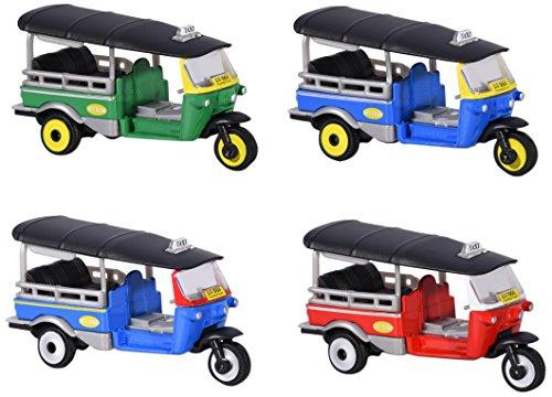Dickie Majorette 212053055TUK Assortment-Miniature Vehicle Die Cast-4Different Designs, 7, 5cm