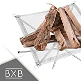BXB Portable Camping Fire Pit | Eco-Friendly with Anti-Heating Mesh | Industrial Grade Steel | Perfect Fire Ring Stand for Outdoor, Backyard, Garden, Campfires, Bonfires | Carrying Bag Included