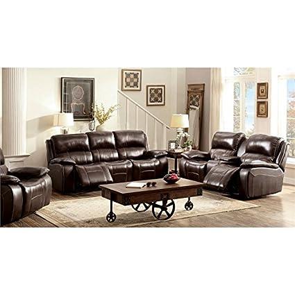 amazon com furniture of america marta top grain leather recliner rh amazon com