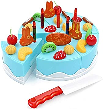 Astounding Make Your Own Diy Birthday Fruit Cake Kids Pretend Play Food Toy Funny Birthday Cards Online Elaedamsfinfo