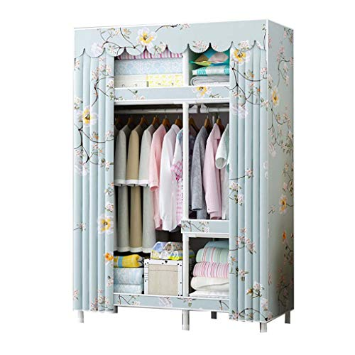 Jian E Cloth Wardrobe-Steel Pipe Bold Reinforcement Cloth Wardrobe Assembly Simple Dormitory Fabric Storage Wardrobe Economy Small Wardrobe / (Color : F, Size : 108cm45cm172cm)