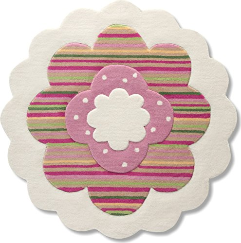 Esprit Home for Kids Flower Shape Area Rug in Round 3'3'' (Esprit Flowers)