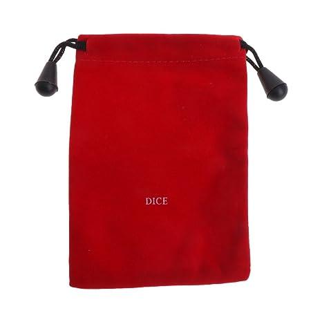 Cuigu – Bolsa con cordón Bolsa de Dados Dados en Tejido Casitas Dragons calcetín de Dados D & D Bolsa de Joyas, Rojo, 5.12