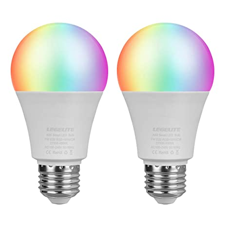 Wifi Light Bulb >> Led Wifi Smart Light Bulb E26 Wifi Light Bulb Compatible With Alexa Google Home And Ifttt Rgbcw Color Changing Cool White And Warm White Dimmable