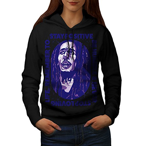 Marley Free Soul Stay Positive Women NEW XXL Hoodie   Wellcoda (Stay Positive Hoodie compare prices)