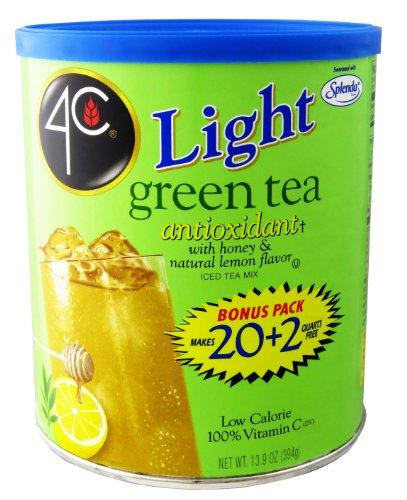 4C Light Powdered Ice Tea Mix with Splenda 13.9oz - Makes 22