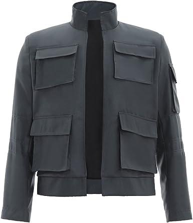 CosplayDiy Men's Jacket for Han Solo Cosplay Gray