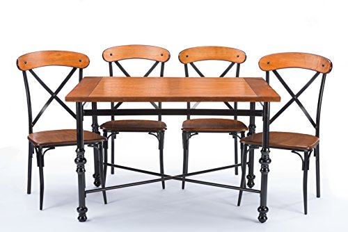 metal and wood kitchen table - 9