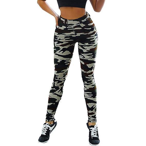 Sport Imprimé Gym Leggings Femmes Camouflage De Malloom Équipée Slim 54jqARLc3