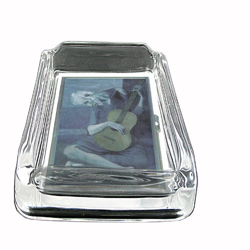 Glass Square Ashtray Pablo Picasso The Old Guitarist Whiskey (Picasso Square)
