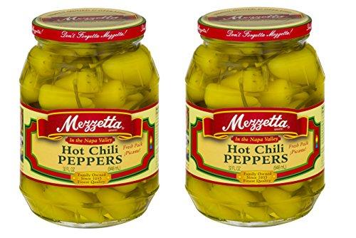 - Hot Chili Peppers Pickles 32 fl Oz (946 ml.) PK of 2 ( Jars) Kosher By Mezzetta