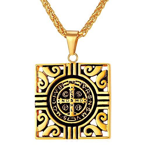 Benedict Catholic Religious Stainless Necklace
