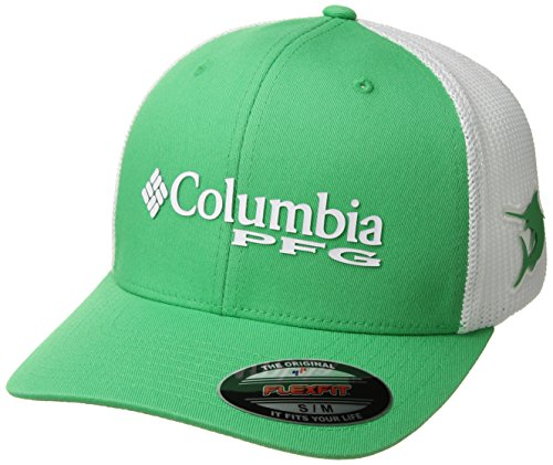 Columbia PFG Mesh Ball Cap, Emerald City/Marlin, Large/X-Large
