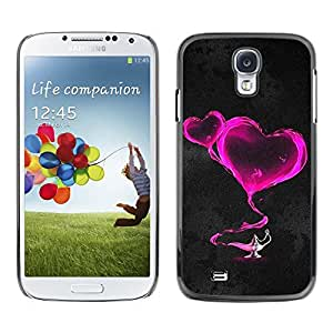 LECELL -- Funda protectora / Cubierta / Piel For Samsung Galaxy S4 I9500 -- Two pink hearts --