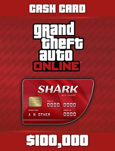 Grand Theft Auto V: G Red Shark Cash Card - PS4 [Digital Code] (Shark Gta)