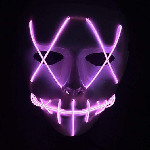 Febelle Máscara LED Aterrador de Halloween con Luz LED para ...