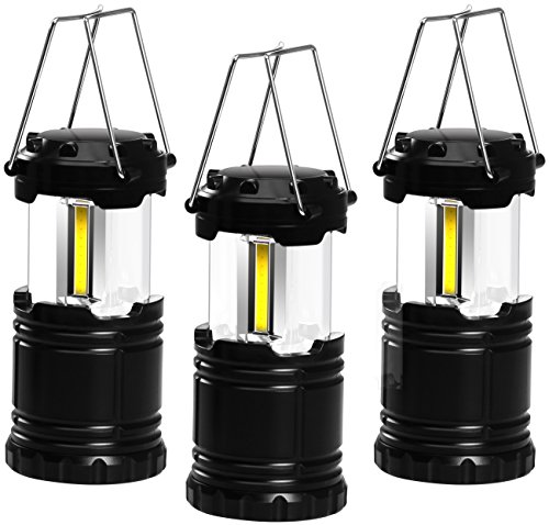 Price comparison product image LED COB Camping Lantern - Collapsible Design - All Weather Design - Pack of 3 - by Utopia Home
