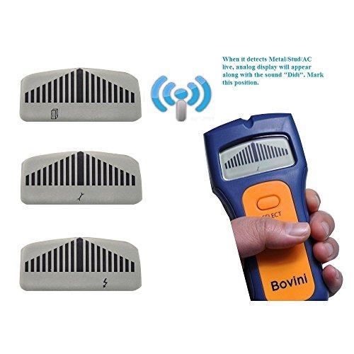 Stud Finder - Bovini MultiScanner Stud Sensor - Digital Wall Stud Finder Wood - Electronic Wall Scanner with Live AC WireWarning Detection Deep Scanning for Live AC Wire, Metal, Studs by Bovini (Image #4)