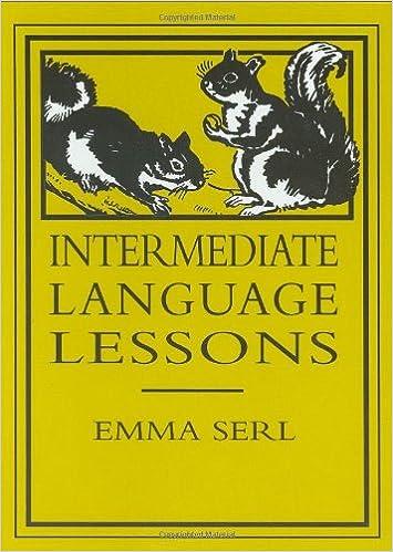 Amazon.com: Intermediate Language Lessons (9780965273572): Emma ...