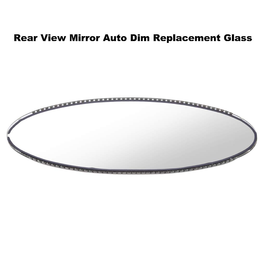 WonVon Oval Interior Rearview Mirror,Rear View Mirror Replacement Auto Dimming Mirror for BMW E46 M3 E39 M5