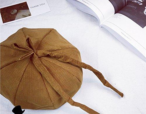Acvip Automne Béret Motif Papillon Chameau Octogonal Mode Avec Femme amp; Hiver Couvercle Chapeau Casquette Noeud Citrouille Ajustable rwqrSCO