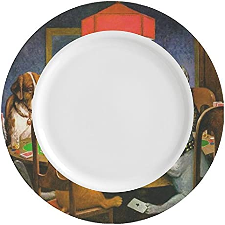 Dogs Playing Poker 1903 C M Coolidge Ceramic Dinner Plates Set Of 4