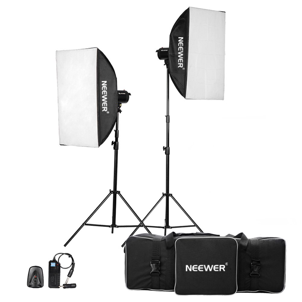 Neewer 800W(400W x 2)Professional Photography Studio Strobe Flash Light Monolight Lighting Kit for Portrait Photography,Studio and Video Shoots( MT-400)