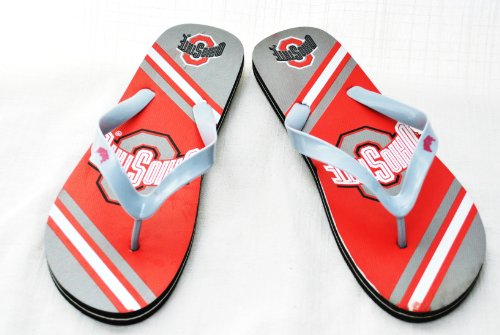 Ohio State Buckeyes Official NCAA Unisex Flip Flop Beach Shoes Sandals slippers size Large by FOREVER