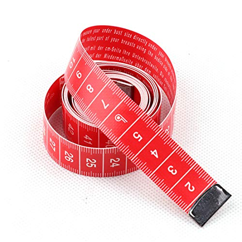 Soft Double Scale Bra Tape Measure for Girl Women Female Child,red Color with White Remark