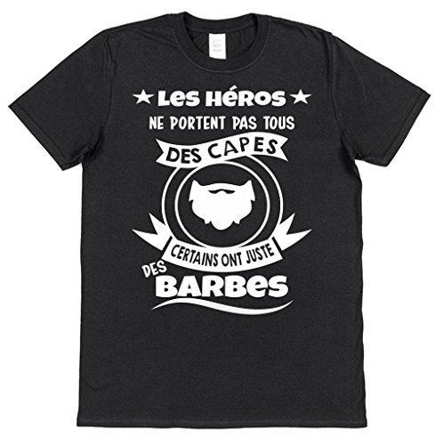 Juste Coton Click Héros shirt Portent Noir Certains Capes Des Tous T Ne Hommes Ont Les My Clobber Barbes Pas C1xnr7qC