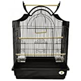 Kings Cages ES 2521 NOP Napoleon top bird cage toy toys Lovebirds Parakeets (WHITE)