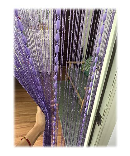Eyotool Door String Curtain Flat Silver Ribbon Thread