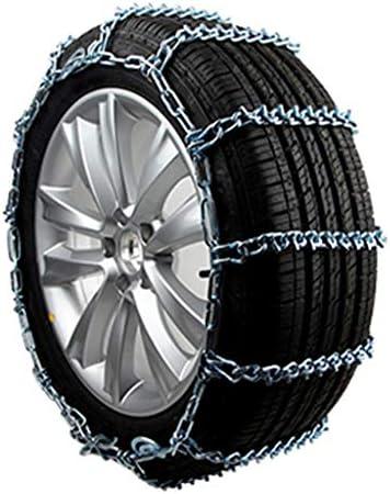 携帯用緊急牽引車のスノータイヤの滑り止めの鎖 タイヤチェーン 金属製 スノーチェーン175 / 65R14、タイヤアンチスキッドスチールチェーン雪の泥カーセキュリティタイヤクリップオンチェーン車自動車トラックSUVのために TPUバンおよび軽トラック用ユニバーサルフィットタイヤ繰り返し使用
