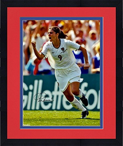 "Framed Mia Hamm Team USA Autographed 16"" x 20"" Celebration Photograph - Fanatics Authentic Certified"
