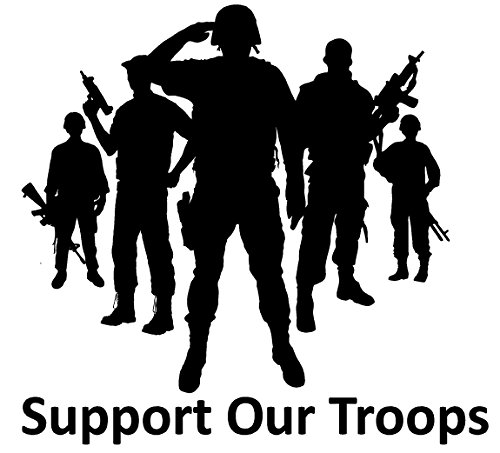 - U.S. Veteran Military Army Marines Navy Hero Support Our Troops Decal Notebook Car Laptop Art vinyl Bumper Sticker Decal