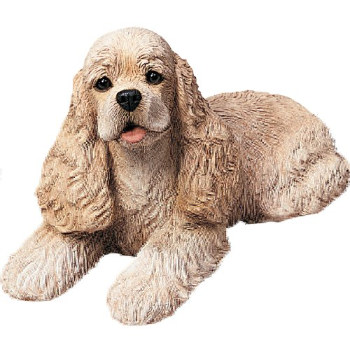 Sandicast Original Size Buff Cocker Spaniel Sculpture, (Cocker Spaniel Sculpture)