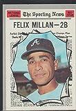 1970 Topps Felix Millan Braves Baseball Card #452