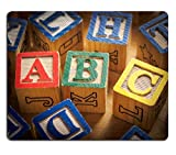 Luxlady Mousepad ABC blocks IM