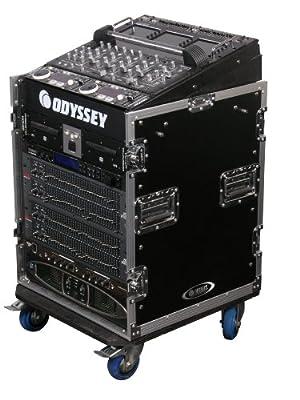 Odyssey FZ1112W Flight Zone Ata Combo Rack With Wheels: 11u Top Slant, 12u Vertical from Odyssey Innovative Designs