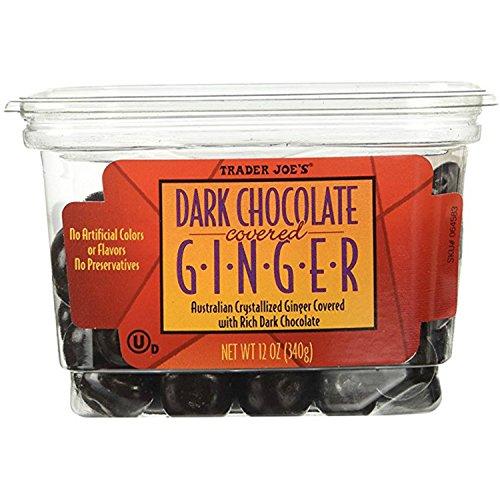 - Trader Joe's Dark Chocolate Covered Ginger
