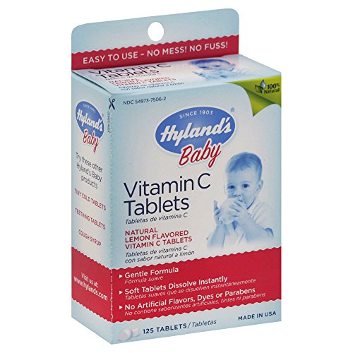 71 Vitamins (Hyland's 125- Count Baby Vitamin C Tablets)